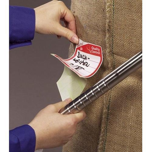 Etiquettes close-it Food - 95 x 95 mm - Rouleau de 500 - Noir - Bürkle