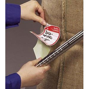 Etiquettes close-it Food - 95 x 95 mm - Rouleau de 500 - Vert - Bürkle