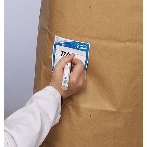 Etiquettes close-it Food Maxi - 150 x 150 mm - Rouleau de 250 - Blanc, sans impression - Bürkle