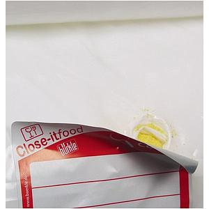 Etiquettes close-it Food Maxi - 150 x 150 mm - Rouleau de 250 - Jaune - Bürkle
