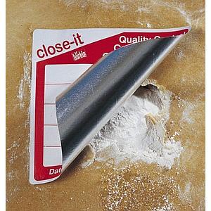 Etiquettes close-it Maxi - 150 x 150 mm - Rouleau de 500 - Blanc, sans impression - Bürkle
