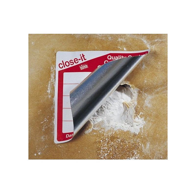 Etiquettes close-it Maxi - 150 x 150 mm - Rouleau de 500 - Jaune - Bürkle
