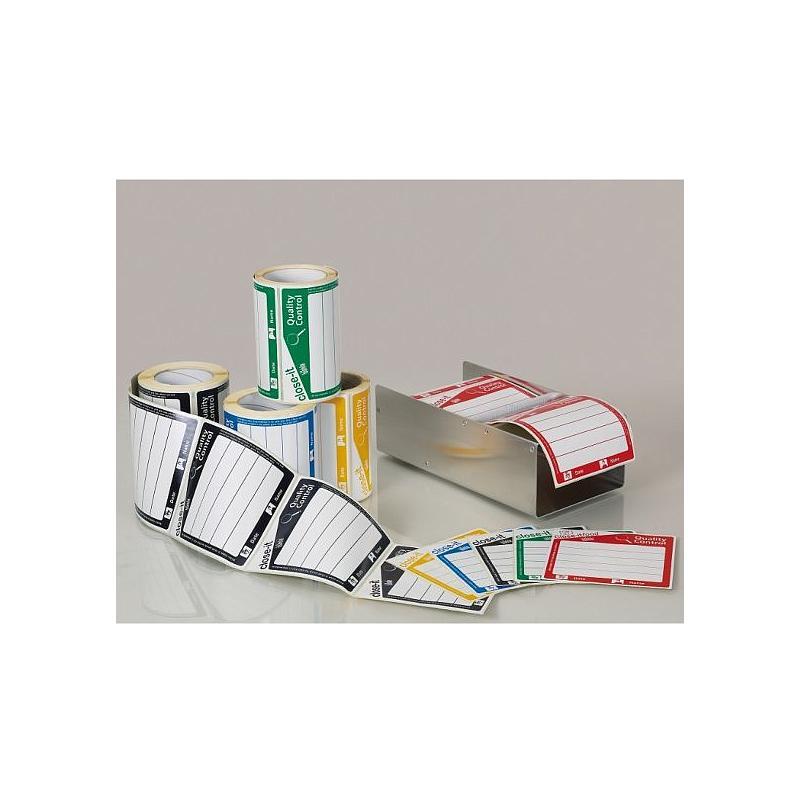 Etiquettes close-it Maxi - 150 x 150 mm - Rouleau de 500 - Noir - Bürkle