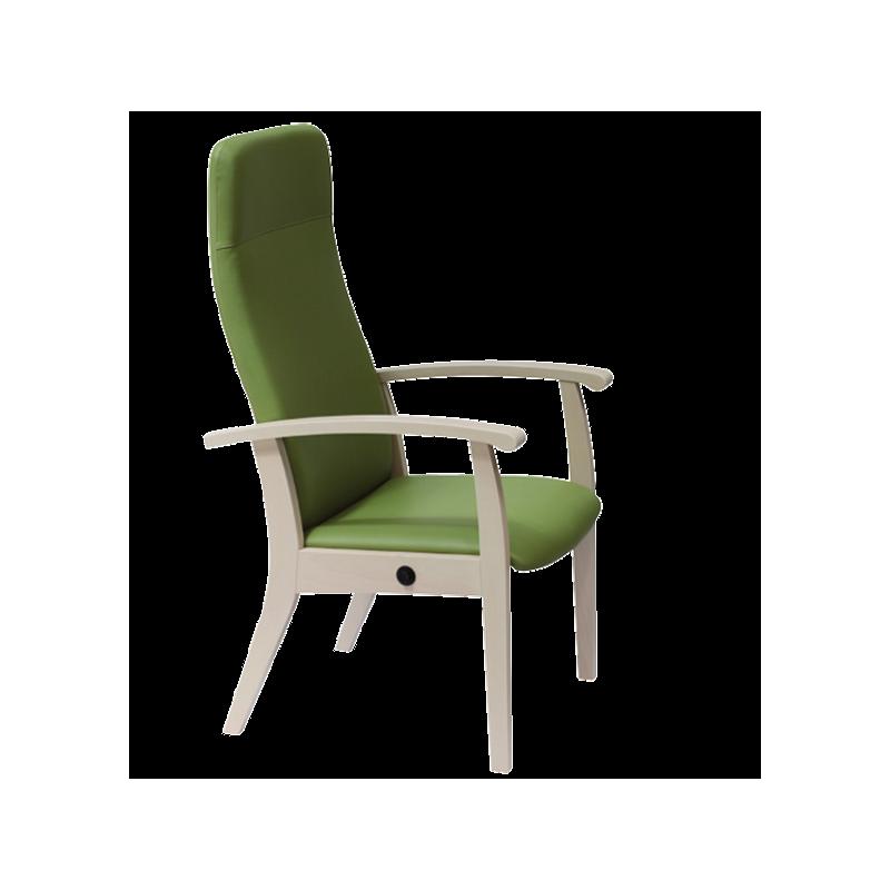 Fauteuil Relax inclinable en bois,couleur lilas - Kango
