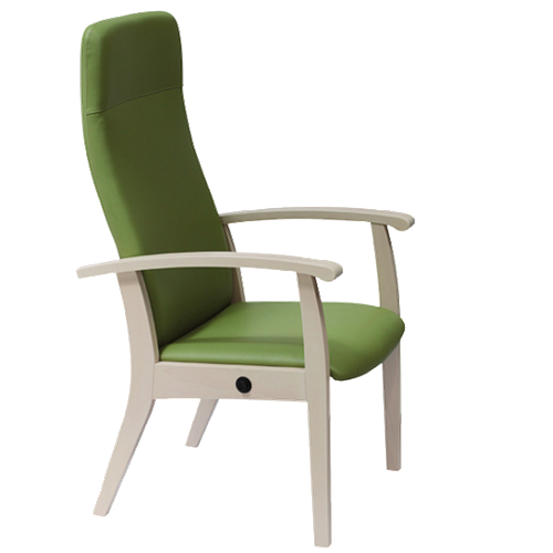 Fauteuil Relax inclinable en bois, couleur quetsche - Kango
