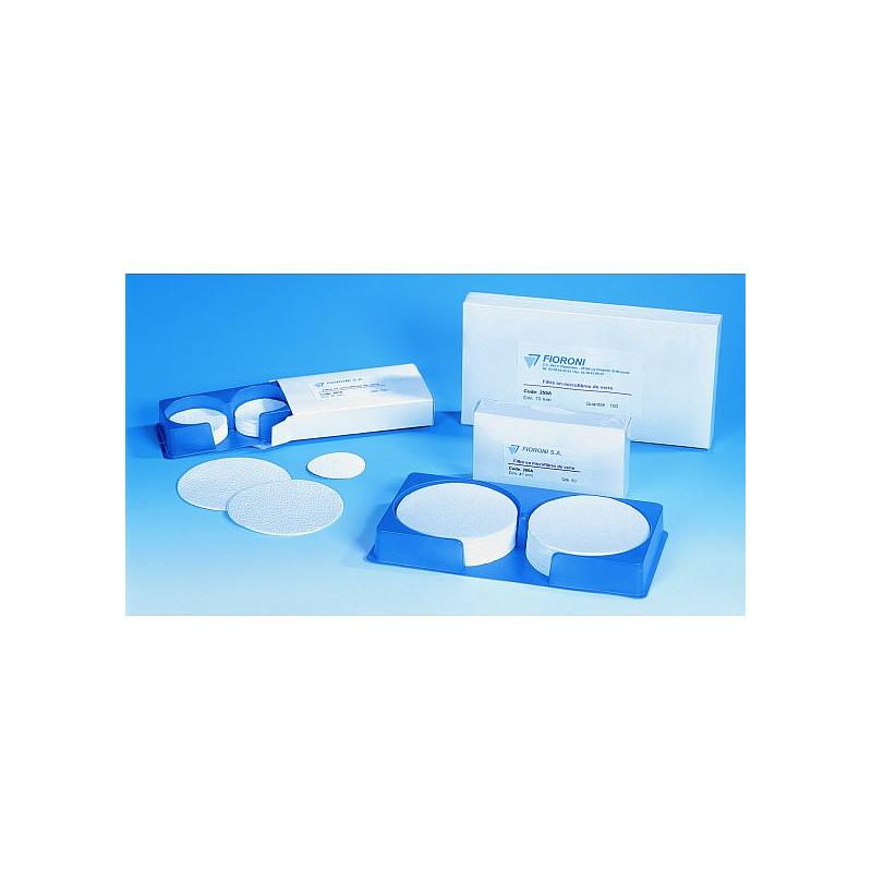 Filtre en microfibre de verre - boîte de 100 - Ø 90 mm - Fioroni