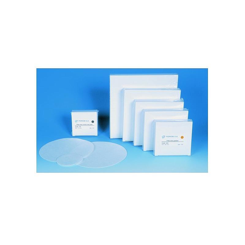 Filtre sans cendre moyen - boîte de 100 - Ø 110 mm - Fioroni