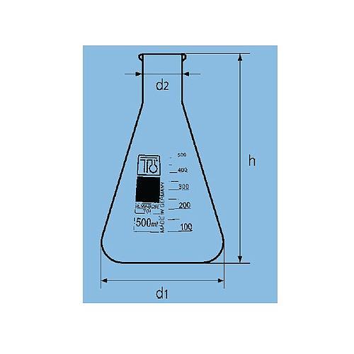 Fiole Erlenmeyer col étroit - 50 ml - TGI