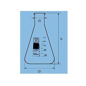 Fiole Erlenmeyer col étroit - 500 ml - TGI