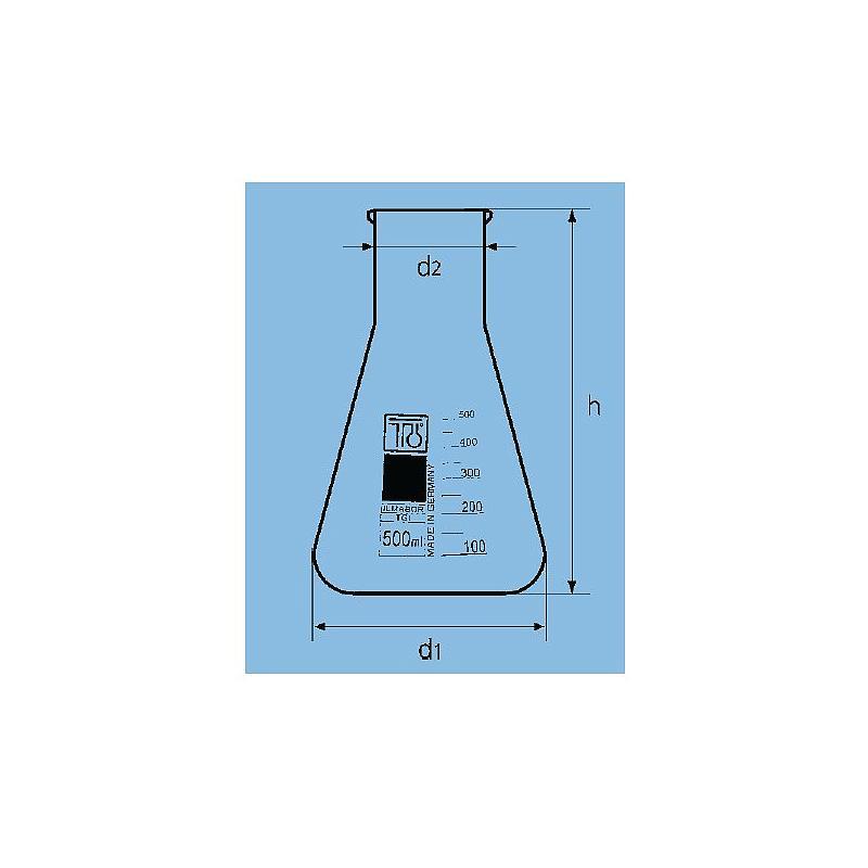 Fiole Erlenmeyer col large - 1000 ml - TGI