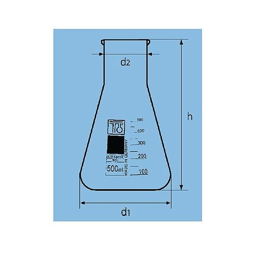 Fiole Erlenmeyer col large - 50 ml - TGI
