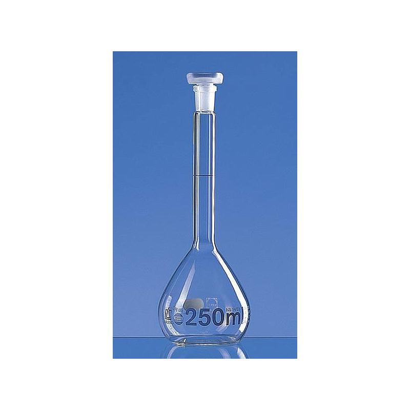 Fiole jaugée 200 ml - bouchon en verre - Lot de 2 - Brand