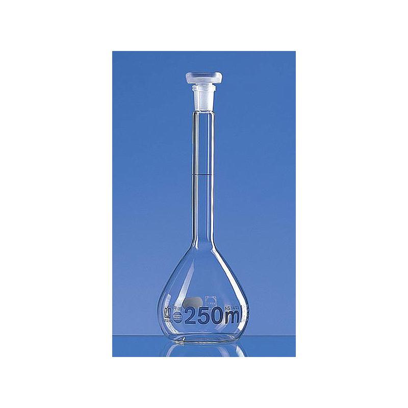 Fiole jaugée 250 ml - bouchon en verre - Lot de 2 - Brand