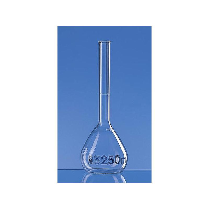 Fiole jaugée 250 ml - Col lisse - Lot de 2 - Brand