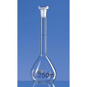 Fiole jaugée 5 ml - bouchon en verre - Lot de 2 - Brand