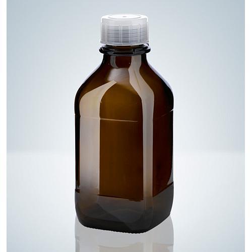 Flacon en verre ambré - 1000 ml - Filetage A45 - Hirschmann