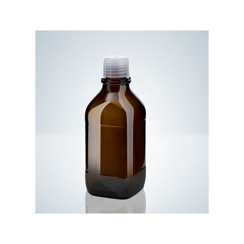 Flacon en verre ambré - 500ml - Filetage A32 - Hirschmann