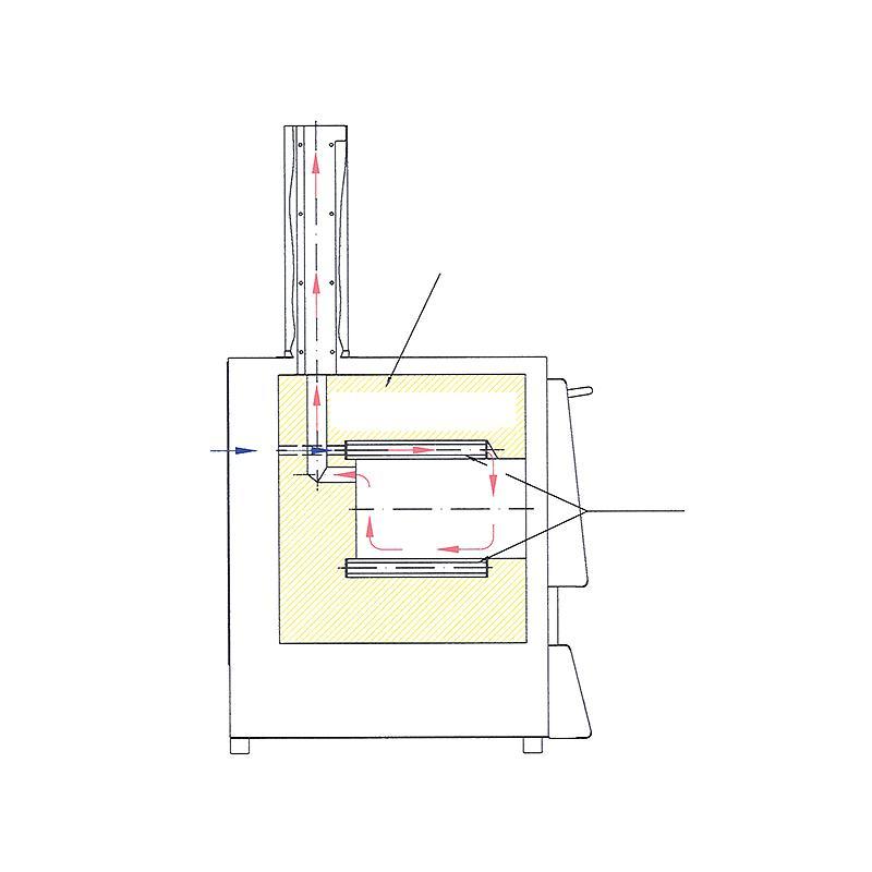 Fours Nabertherm : four d'incinération professionnel LVT15/11, porte guillotine