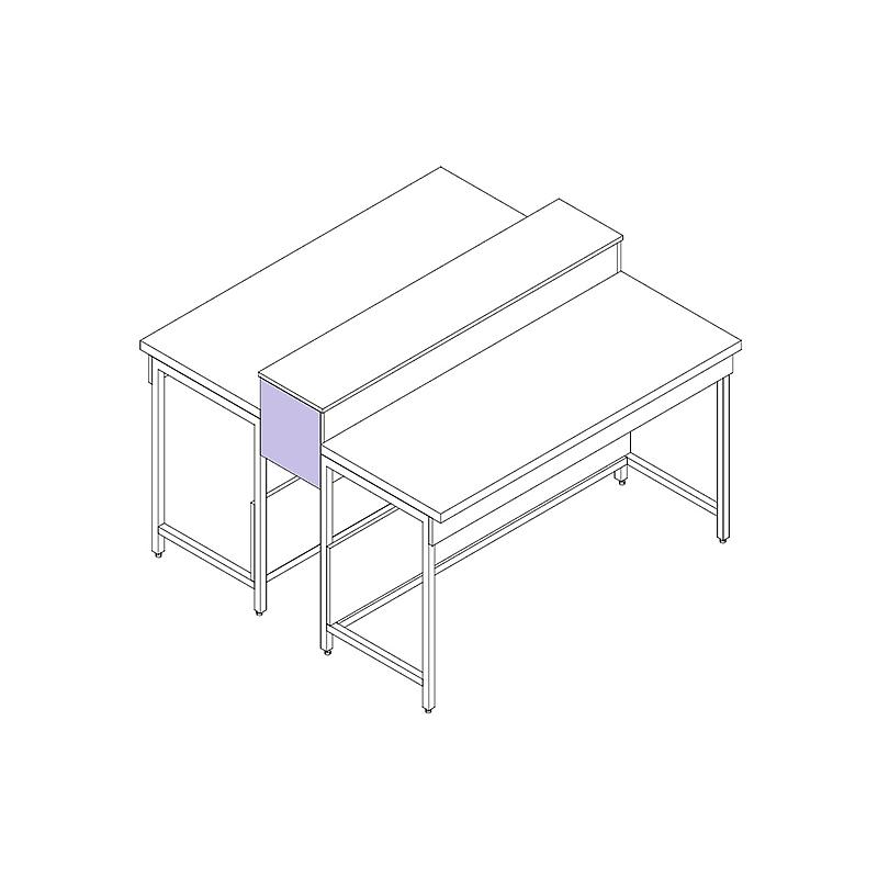Habillage de finition latérale pour Dosseret / Tablette central L160xH320 mm