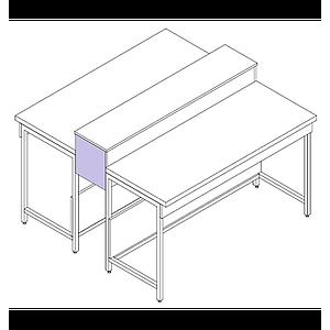 Habillage finition latéral pour dosseret / tablette ou plage centrale