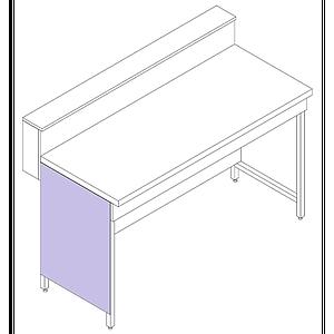 Habillage pour piètement H - L750 mm