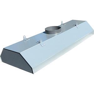 Hotte centrale blanche en PVC, L1200 x p750 x H350 mm