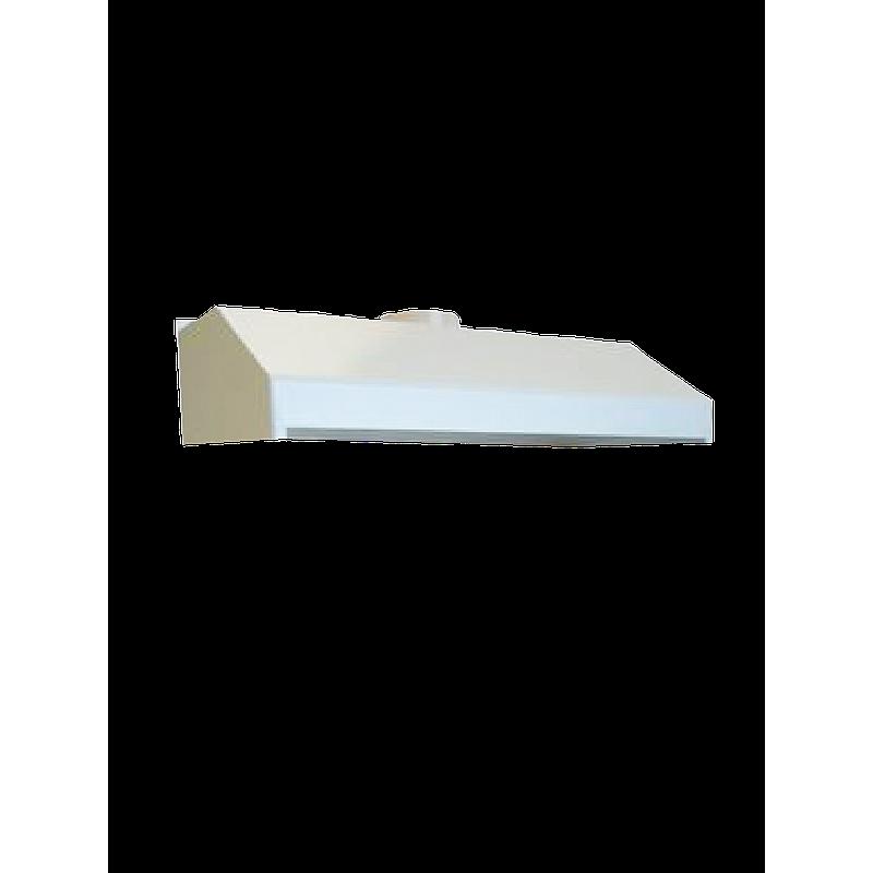 Hotte murale blanche en PVC, L1200 x p600 x H350 mm