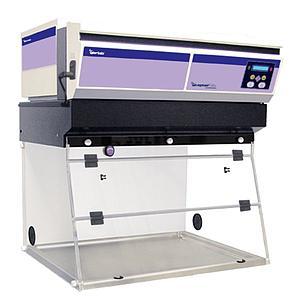 Hotte PCR CaptairBio 321 + filtre particulaire HEPA H14 - Erlab