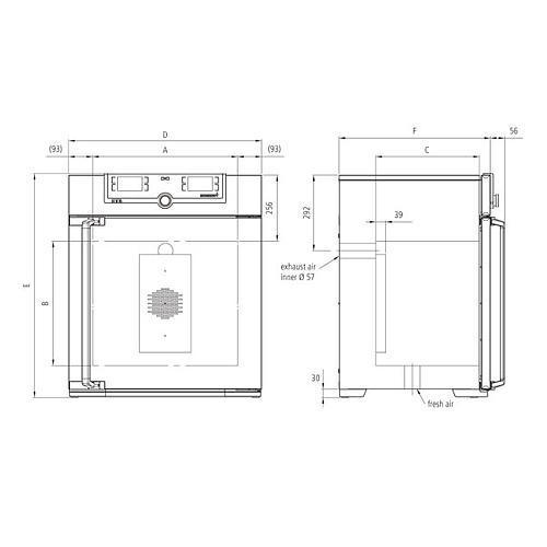 Incubateur bactériologique ventilé IF55 - Memmert