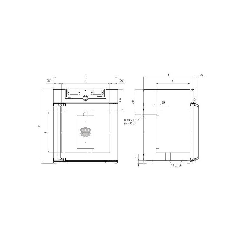 Incubateur bactériologique ventilé IF75 - Memmert