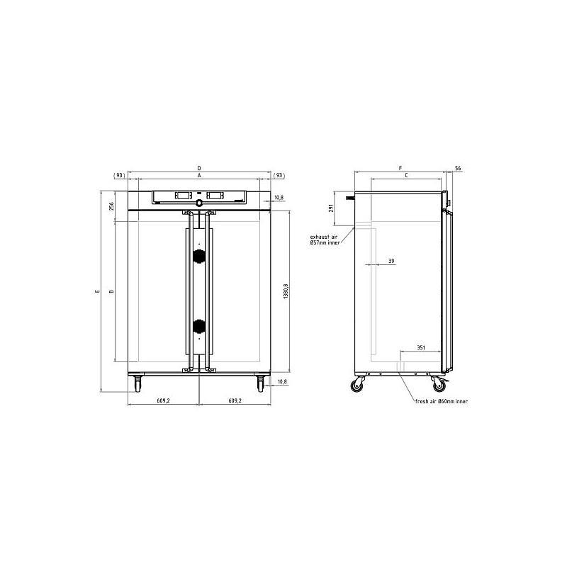 Incubateur bactériologique ventilé IF750 - Memmert