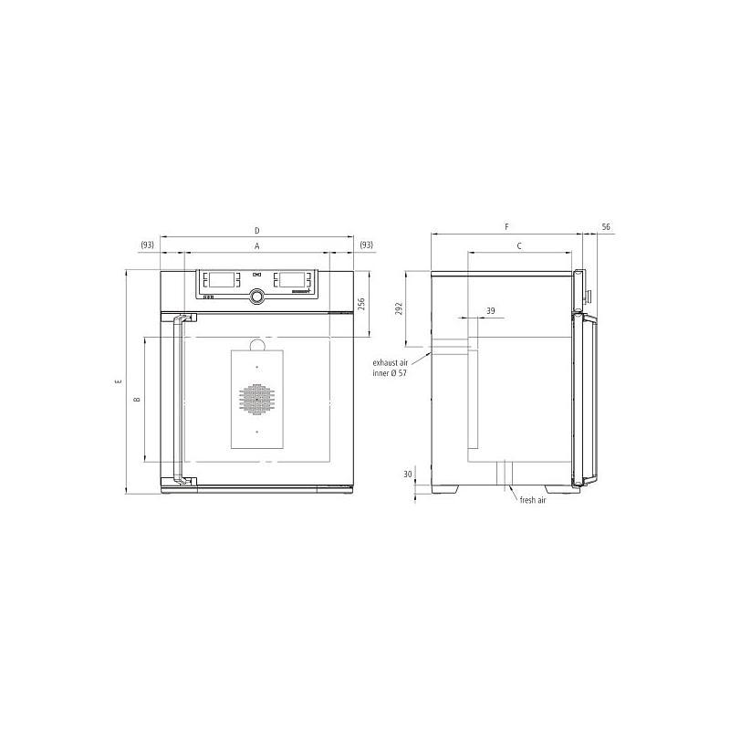 Incubateur bactériologique ventilé IF75plus - Memmert