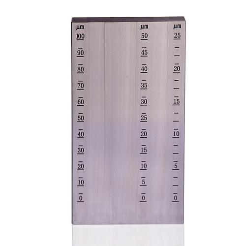 Jauge de finesse de broyage - Grindomètre - Triple portée - 0-25/50/100 µm