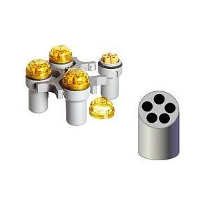 Kit rotor libre 4 places + 4 nacelles max. 100 ml + 4 portoirs réducteurs Vacu 5 ml