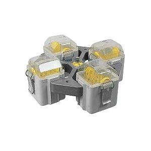 Kit rotor libre 4 places + 4 nacelles rectangulaires + 4 adaptateurs tubes Vacu 30 x 1.6 - 5 ml