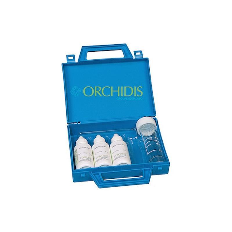 Kit titrimétrique à goutte - Titre Hydrotimétrique (TH) 3 flacons - Orchidis