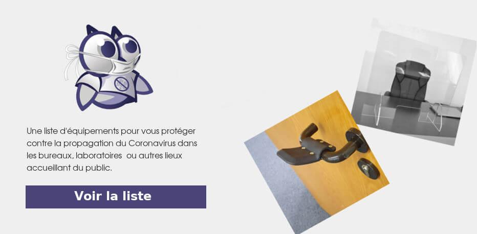 equipements protection Coronavirus
