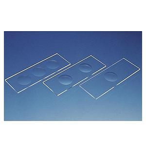 Lame porte-objets à 3 cavités pour microscope - Boîte de 50 - Brand