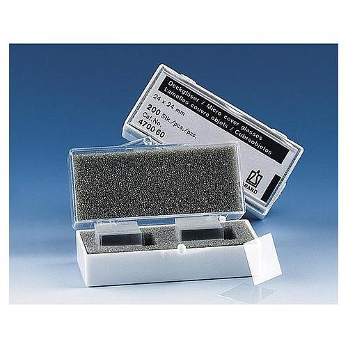 Lamelle couvre-objet pour lame porte-objet - 24 x 50 mm - Boite de 100 - Brand