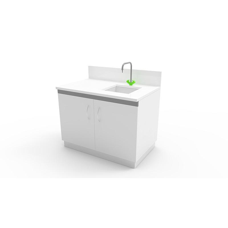 Laverie sur meuble fixe 2 portes, L750 x p750 x H900 mm