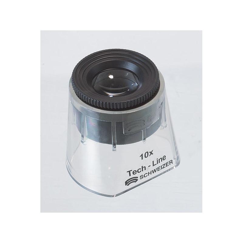 Loupe de mesure avec jupe transparente : focale variable 10x - Tech-Line - Schweizer