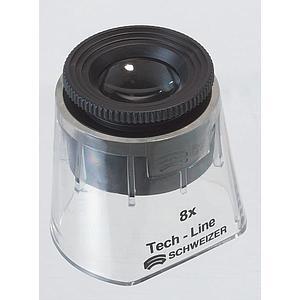 Loupe de mesure avec jupe transparente : focale variable 8x - Tech-Line - Schweizer