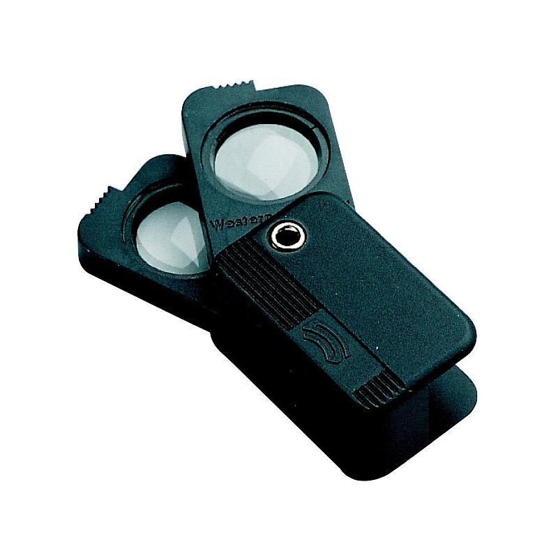 Loupe pliante de poche à double optique - x3 + x3 = x6