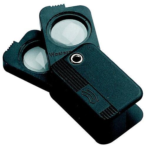 Loupe pliante de poche à double optique - x3 + x5 = x8