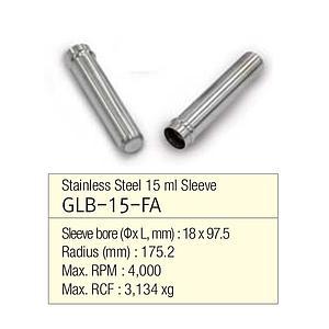 Manchon aluminium pour tube 15 ml à fond rond ou conique  - Gyrozen