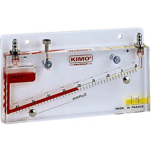 Manomètre à colonne de liquide inclinée MG 20 - KIMO