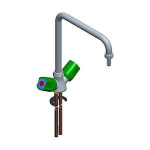 Mélangeur monotrou bras à pont, profondeur de bec = 250 mm