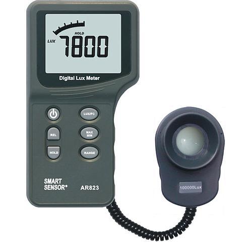 Mesure de l'intensité lumineuse :  luxmètre AR823