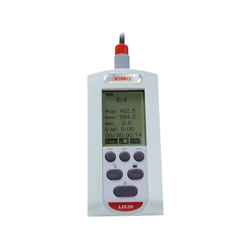 Mesure de l'intensité lumineuse :  luxmètre LIS 30