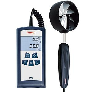 Mesure de la vitesse d'air - thermo-anémomètre à hélice Ø 100 mm - LVA